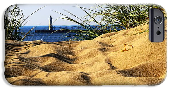 Lighthouse Pyrography iPhone Cases - Lighting the Way iPhone Case by Rick Bartrand