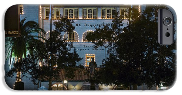 Christmas Holiday Scenery iPhone Cases - Lightner At Night iPhone Case by Kenneth Albin