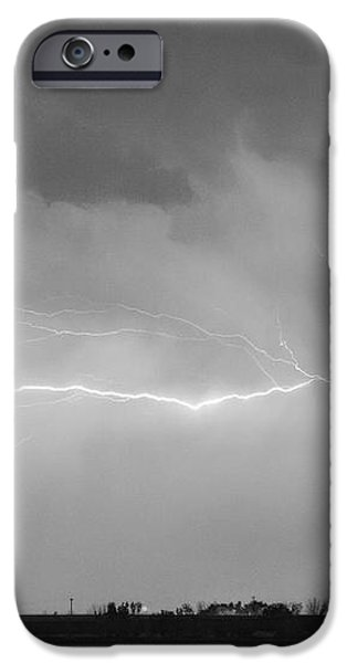 Lightning Bolting Across the Sky BWSC iPhone Case by James BO  Insogna
