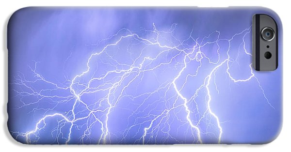 Electrical iPhone Cases - Lightning Electrical Sky iPhone Case by James BO  Insogna