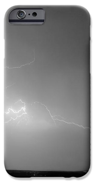 Lightning Goes Boom In The Middle of The Night BW iPhone Case by James BO  Insogna