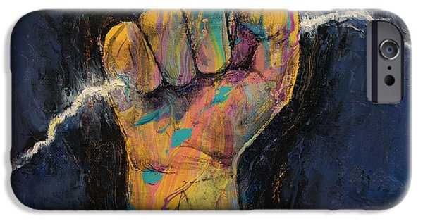 Figures Paintings iPhone Cases - Lightning iPhone Case by Michael Creese