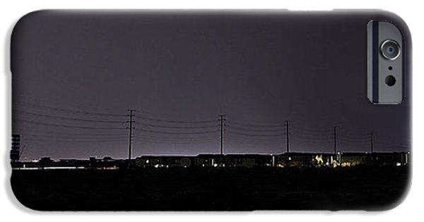 4th Of July iPhone Cases - Lightning Over Las Vegas 3 iPhone Case by James Sage