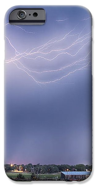 Lightning Storm And The Big Red Barn iPhone Case by James BO  Insogna