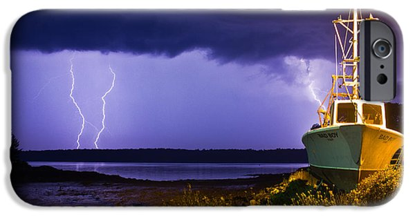 Electrical iPhone Cases - Lightning Storm iPhone Case by Benjamin Williamson