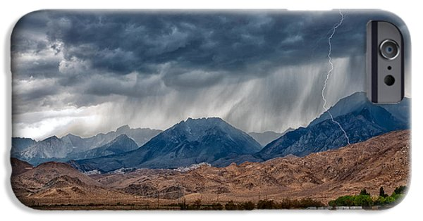 Storm Photographs iPhone Cases - LIghtning Strike iPhone Case by Cat Connor