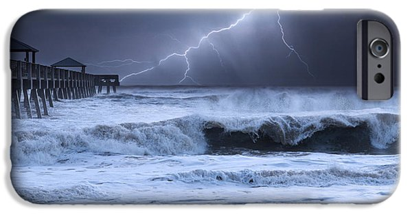 Electrical iPhone Cases - Lightning Strike iPhone Case by Laura  Fasulo