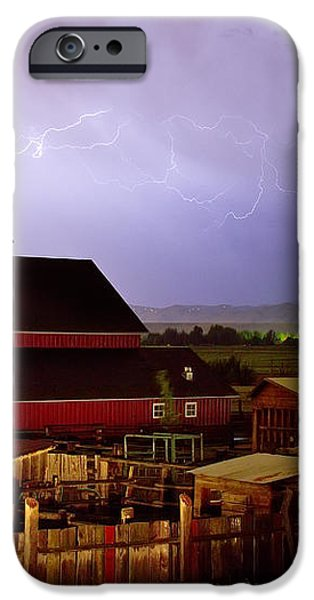 Lightning Strikes Over The Farm iPhone Case by James BO  Insogna