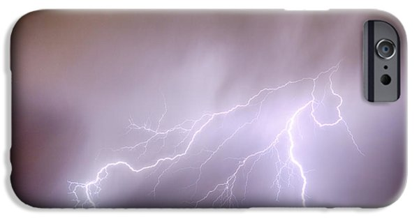Electrical iPhone Cases - Lightning Strikes The Dacona Oil Fields iPhone Case by James BO  Insogna