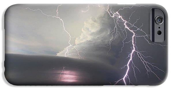 Nebraska iPhone Cases - Lightning Strikes Twice iPhone Case by Chris  Allington