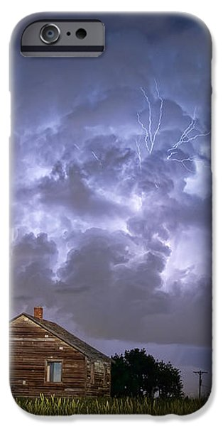 Lightning Thunderstorm Busting Out iPhone Case by James BO  Insogna