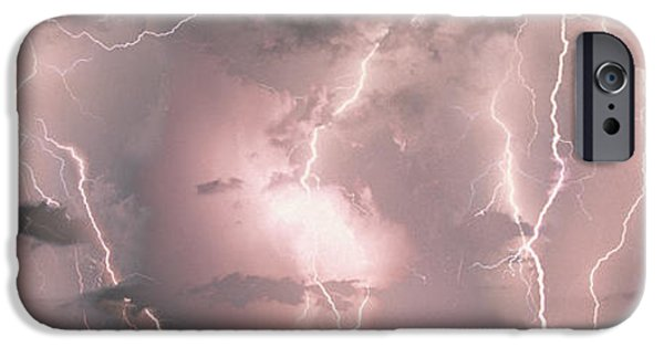 Storm iPhone Cases - Lightning, Thunderstorm, Weather, Sky iPhone Case by Panoramic Images