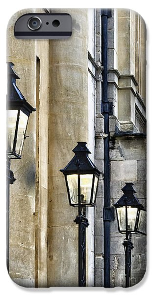 Tallest Columns World iPhone Cases - Lights and Columns iPhone Case by Margie Hurwich