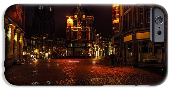 Nederland iPhone Cases - Lights of Night Utrecht. Netherlands iPhone Case by Jenny Rainbow