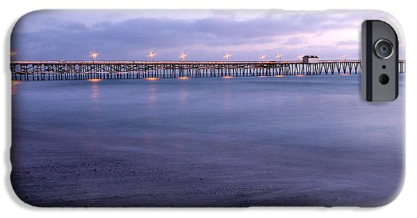 Village By The Sea iPhone Cases - Lights on the Pier iPhone Case by Richard Cheski