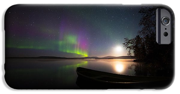 Lappi iPhone Cases - Lights over Lapland iPhone Case by Mikko Lonnberg