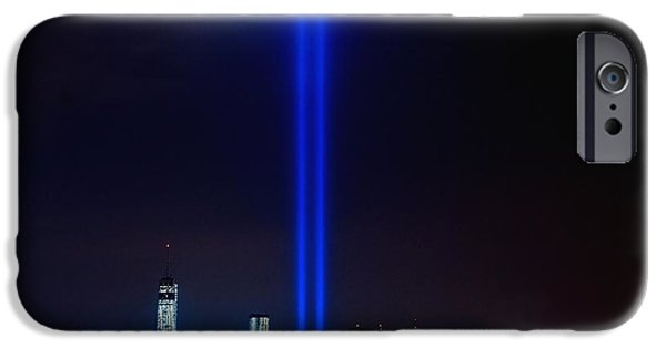 Terrorism iPhone Cases - Lights over NYC iPhone Case by Nick Zelinsky