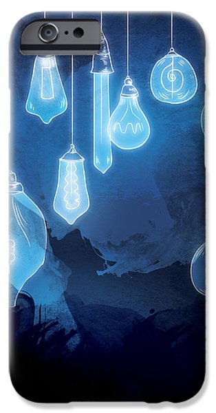 Bulb iPhone Cases - Lights iPhone Case by Randoms Print