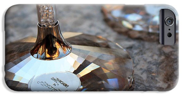 Wine Reflection Art iPhone Cases - Like a Diamond iPhone Case by Penelope Moore