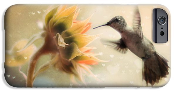 Birds iPhone Cases - Like a Moth To a Flame iPhone Case by Amy Tyler
