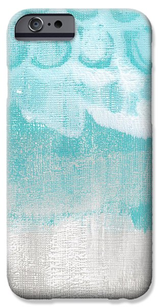 Abstracted Mixed Media iPhone Cases - Like A Prayer- Abstract Painting iPhone Case by Linda Woods
