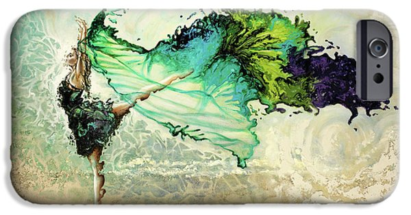 Dance iPhone Cases - Like air I will raise iPhone Case by Karina Llergo Salto