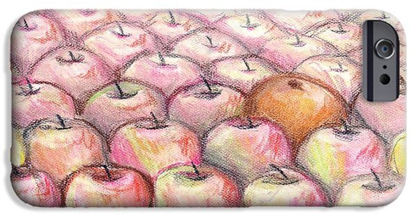 Jackson Pastels iPhone Cases - Like Apples and Oranges iPhone Case by Shana Rowe