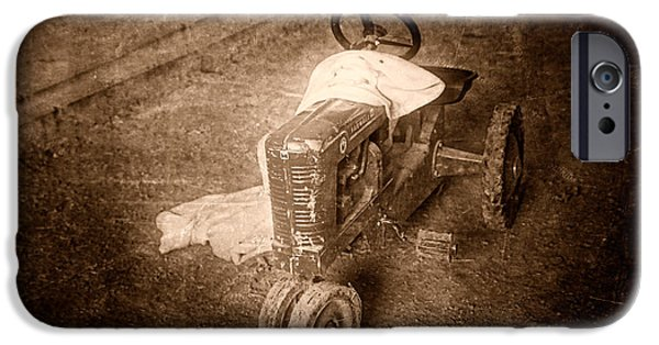 Tractors iPhone Cases - Like Father Like Son iPhone Case by Tom Mc Nemar