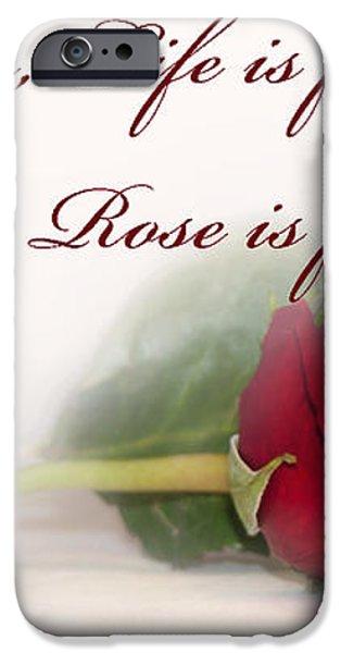 Like the Rose iPhone Case by Mechala  Matthews