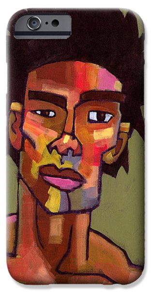Figures Paintings iPhone Cases - LIkes to Party iPhone Case by Douglas Simonson