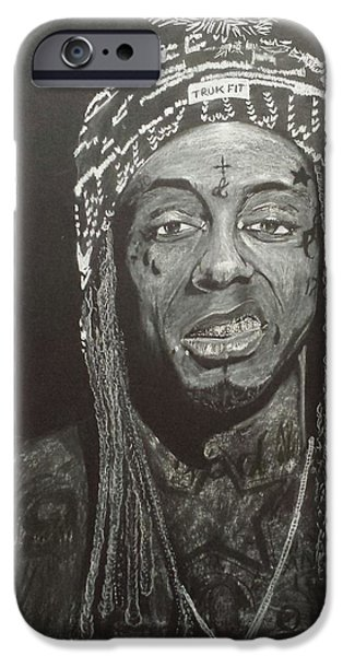 Michael Pastels iPhone Cases - Lil grin iPhone Case by DMo Herr