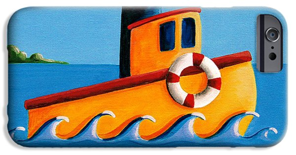 Babies iPhone Cases - Lil Tugboat iPhone Case by Cindy Thornton