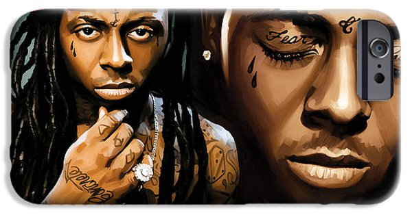 Hip-hop iPhone Cases - Lil Wayne Artwork iPhone Case by Sheraz A
