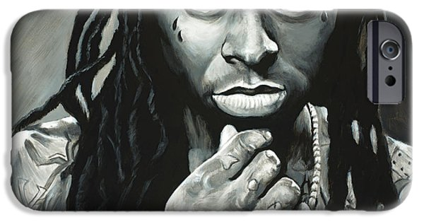 Lil Wayne Paintings iPhone Cases - Lil Wayne iPhone Case by Travis Knight