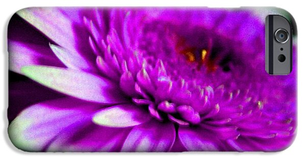 Abstract Digital Pastels iPhone Cases - Lilac Beauty H b iPhone Case by Gert J Rheeders