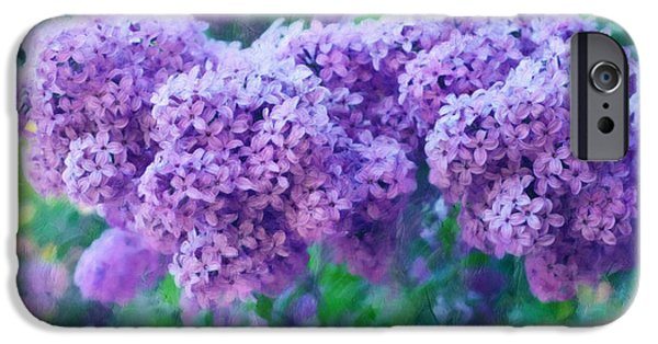 Poetic Mixed Media iPhone Cases - Lilac Cadenza iPhone Case by Georgiana Romanovna