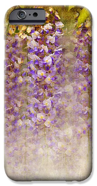 Flora Mixed Media iPhone Cases - Lilac Painting iPhone Case by Svetlana Sewell