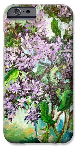 Lilacs iPhone Case by Carol Mangano