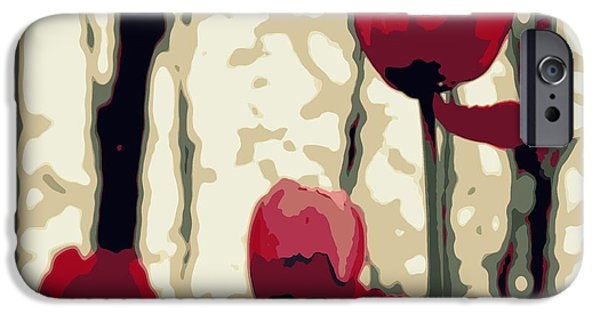 Abstract Digital Photographs iPhone Cases - Lili iPhone Case by France Laliberte