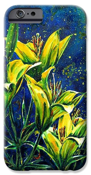 Lilies iPhone Case by Zaira Dzhaubaeva