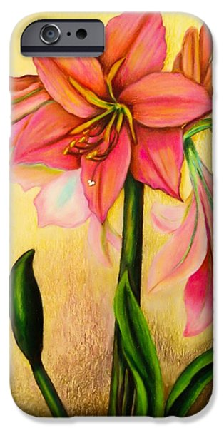 Flora Drawings iPhone Cases - Lilies iPhone Case by Zina Stromberg