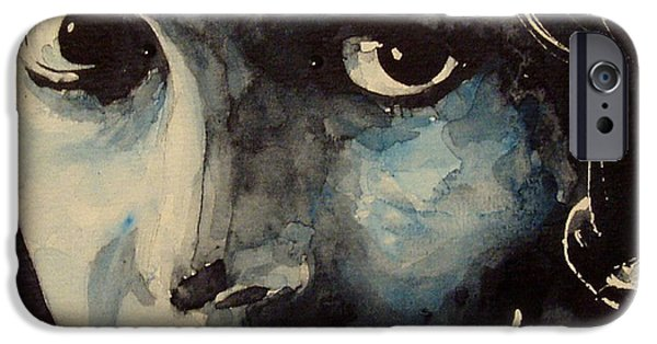 Lips iPhone Cases - Lillian Gish  iPhone Case by Paul Lovering