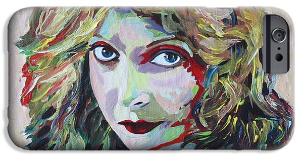 First Lady Paintings iPhone Cases - Lillian Gish Portrait iPhone Case by Robert Yaeger