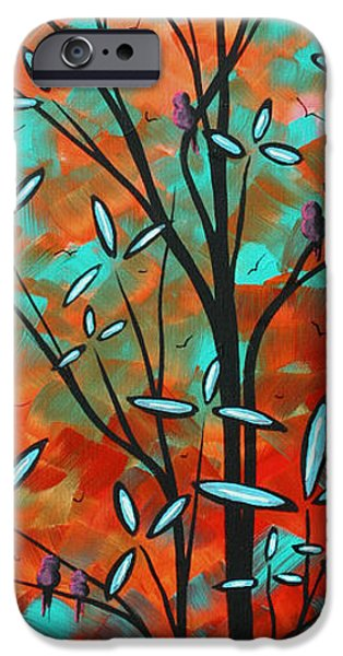 Tangerine Paintings iPhone Cases - Lilly Pulitzer Inspired Abstract Art Colorful Original Painting SPRING BLOSSOMS by MADART iPhone Case by Megan Duncanson