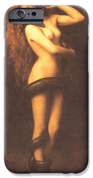 Serpent iPhone Cases - Lilth iPhone Case by John Collier