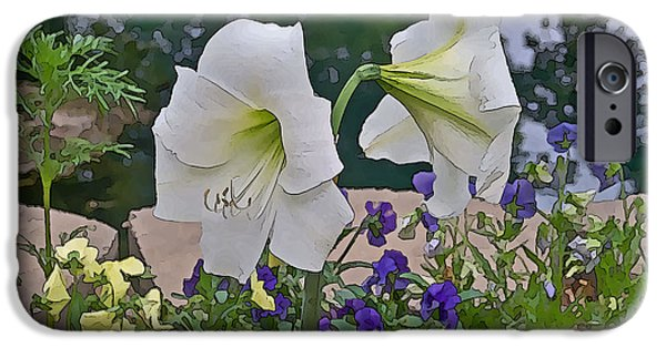 Arkansas Mixed Media iPhone Cases - Lily iPhone Case by Julie  Grace