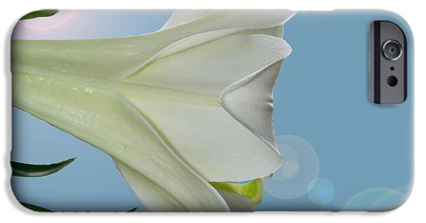 Innocence iPhone Cases - Lily Light iPhone Case by Karen Adams