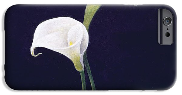 White iPhone Cases - Lily iPhone Case by Lincoln Seligman