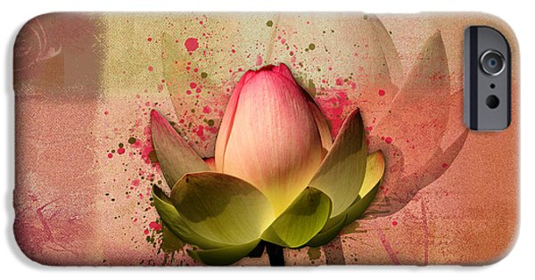 Waterlily iPhone Cases - Lily My Lovely - s03d4 iPhone Case by Variance Collections