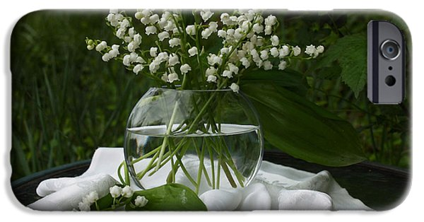 Wedding Bells iPhone Cases - Lily-of-the-valley Bouquet iPhone Case by Luv Photography